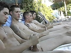 Poolside Circle Jerking - Billy, KC, Turk And Winte