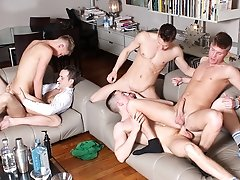 A Cum Drenching Orgy Of Uncut Action - Luke Desmond, McKensie Cross