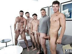 A Hollywood Story Part 3 - Billy Santoro, Will Braun, Dennis West, Brenden Cage JJ Knight -  Jizz Orgy