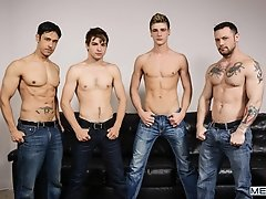 I'm Leaving You Part 5 - Johnny Rapid, Travis Stevens, Rafael Alencar, Sergeant Miles  -  Jizz Orgy