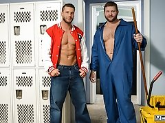 Janitor's Closet Part 1 - Colby Jansen and Rod Pederson - Big Dicks At School