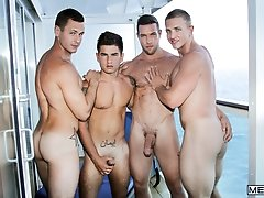 MEN At Sea Part 7 - Brenner Bolton, Alex Mecum, Landon Mycles and Vadim Black  -  Jizz Orgy