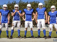 Football DL Part 3 - Adam Bryant, Cameron Foster, Darin Silvers and Robert Axel  -  Jizz Orgy