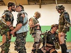 Apocalypse Part 4 - Paddy O'Brian, Damien Crosse, Hector De Silva, dario Beck and Jay Roberts  -  Jizz Orgy