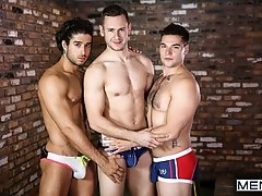 Double Timing Husband -Diego Sans, Aspen and Brenner Bolton - Drill My Hole